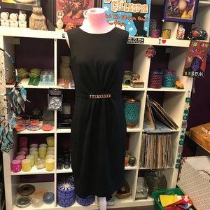 Nwt Calvin Klein midi black dress 8